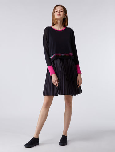 2-in-1 dress and sweater