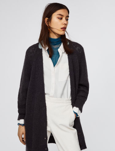 Oversized cardigan with contrasting detail