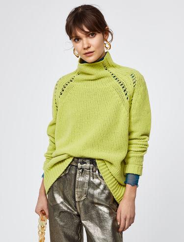 Jersey de chenilla con calados