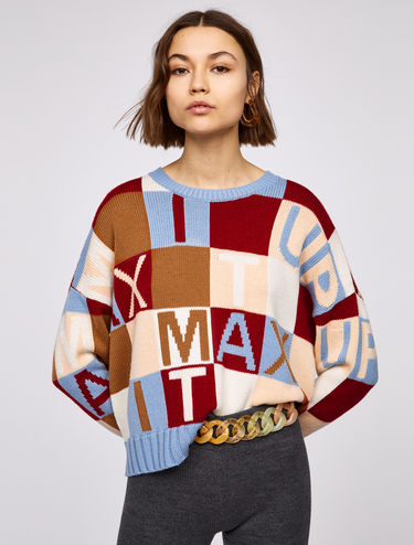 Jumper with MAX IT UP lettering