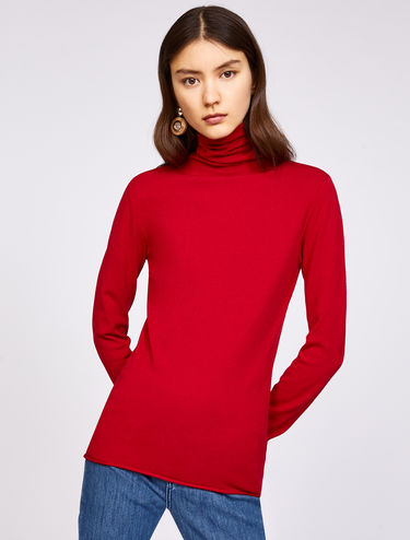 Polo-neck sweater