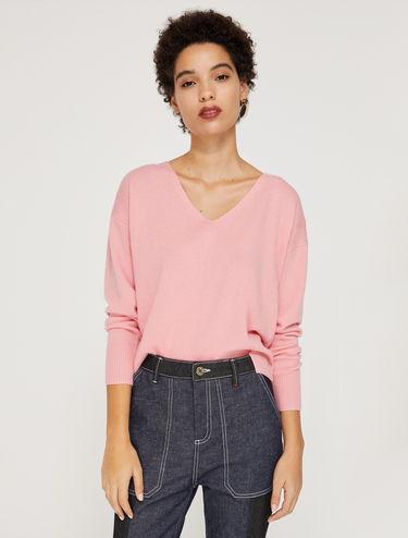 Jersey de lana y cachemir con cuello V