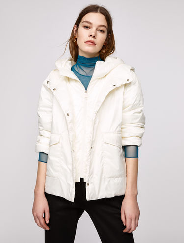 Padded jacket with a layered effect