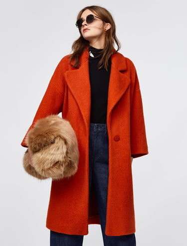 Faux fur coat