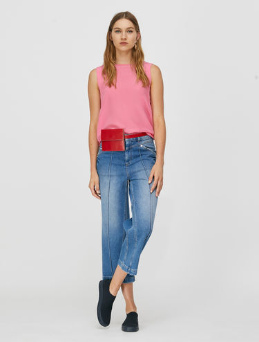 Jersey sleeveless top