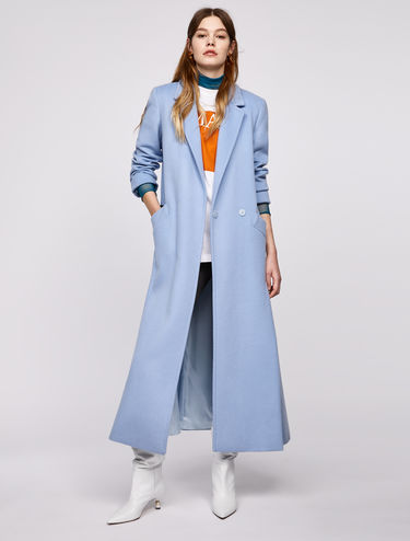 Maxi broadcloth coat