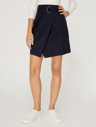 Wraparound mini-skirt