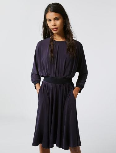 Jersey-Kleid mit Fledermausärmeln