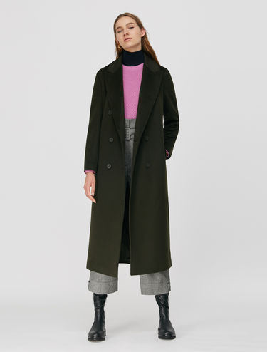 Coat in pure wool beaver cloth