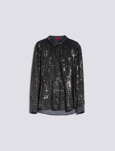 All-over sequin shirt