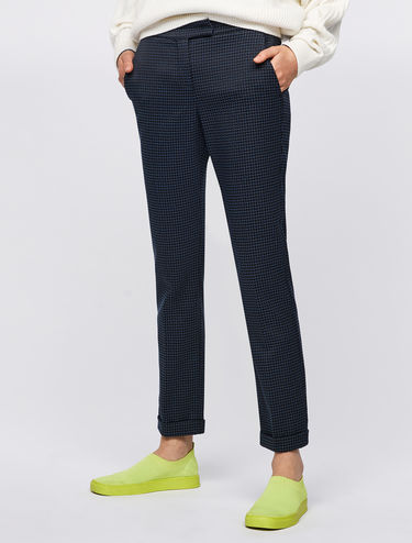 Jacquard cocktail trousers