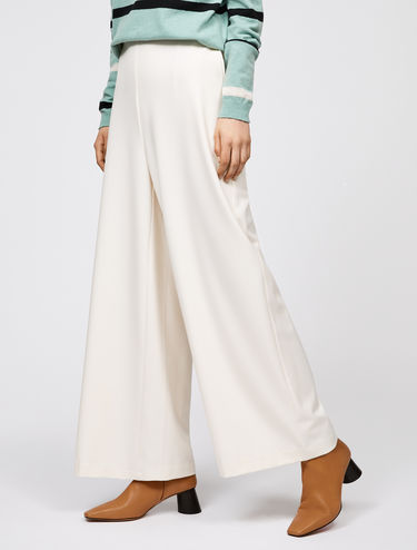 Wide fit stretch trousers
