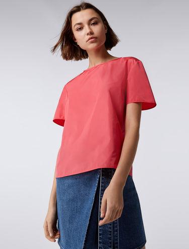 Boxy taffeta blouse