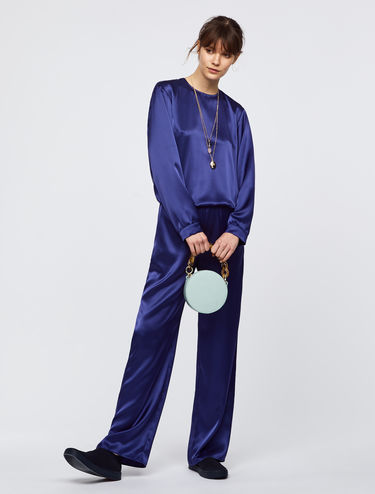 Satin and velvet jumpsuit