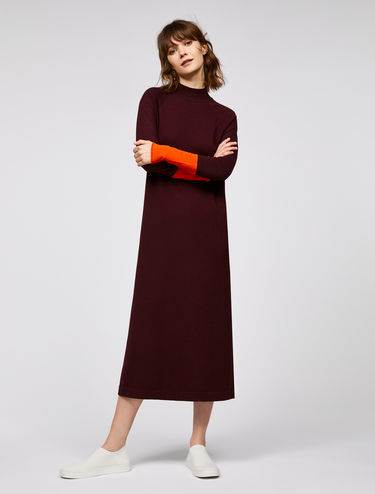 Knit colour block dress
