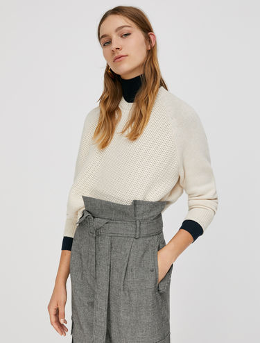 Honeycomb-stitch jumper