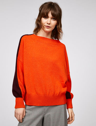 Oversized two-tone jumper