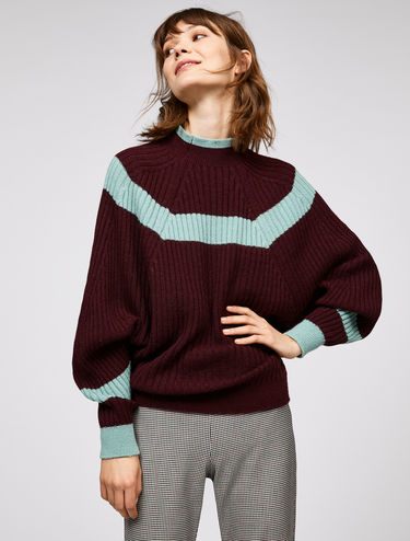 Striped batwing jumper