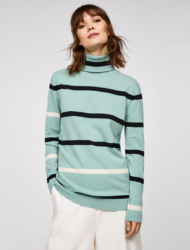Long line striped jumper
