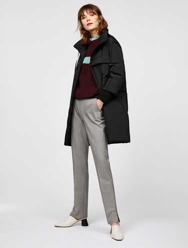 Straight line padded coat