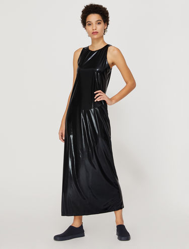 Metallic maxi tank dress