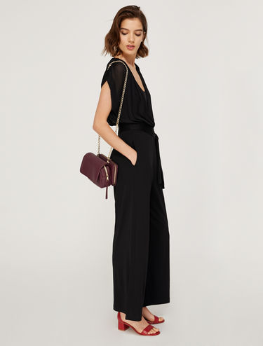 Drape effect jumpsuit