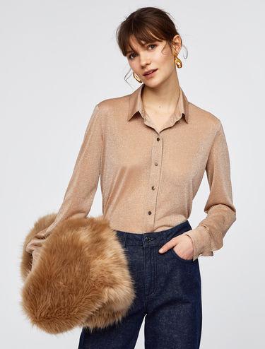 Camicia di jersey lamé