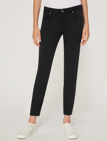 Skinny fit cotton trousers