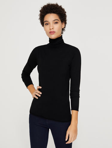 Stretch-Sweater mit Rollkragen