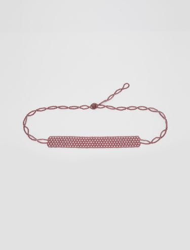 2-in-1 pearl choker belt