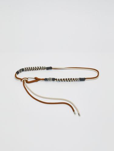Cintura intrecciata di corda