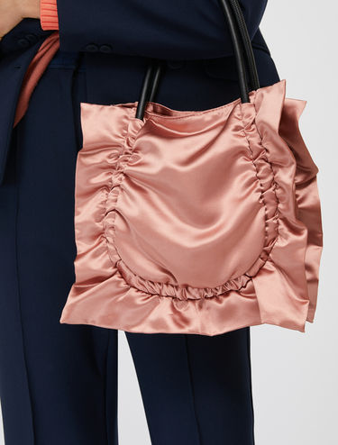 Mini satin shopper