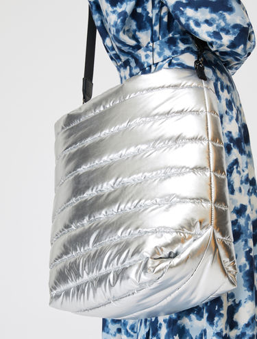 Reversible silver Pillow Bag