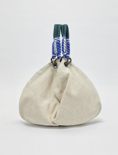 Multi-way bag in cotton and linen
