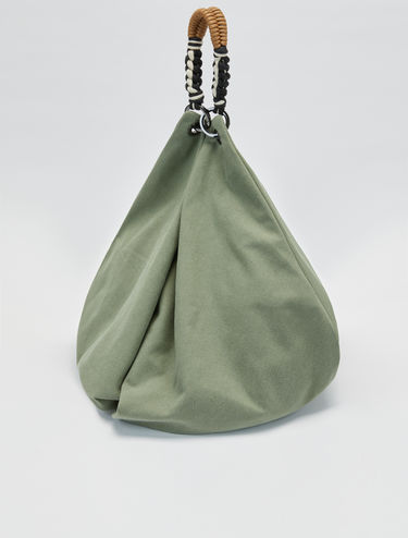 Maxi-hobo bag in cotone