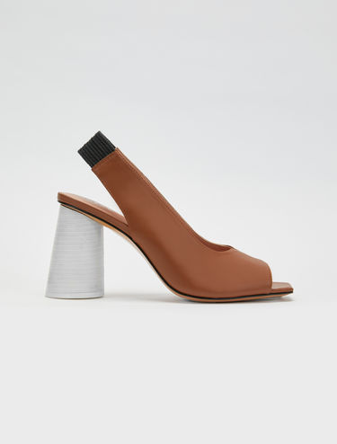 Colour-block slingbacks