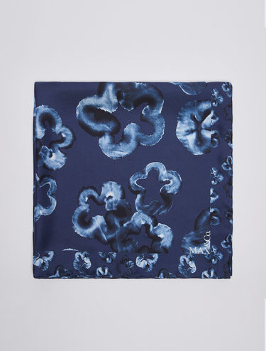 Printed pure silk scarf