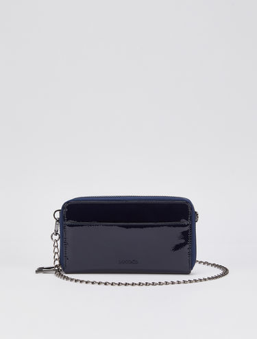 Patent leather mini-bag wallet