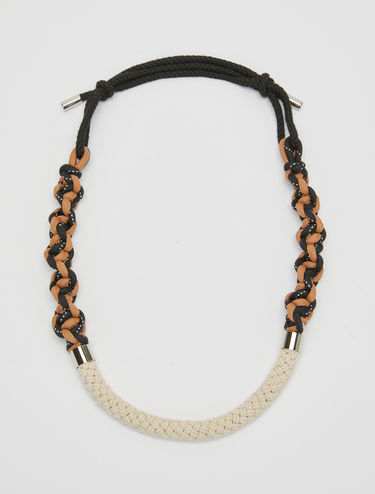 Woven cord necklace