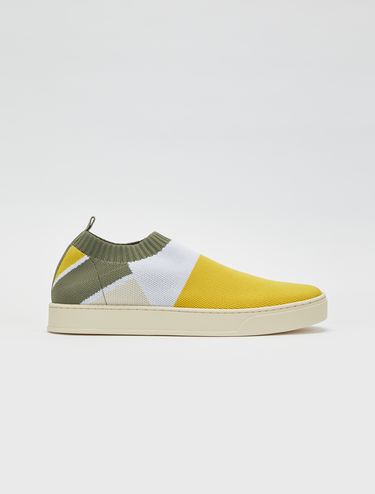 Oya trainers in two-tone technical knit