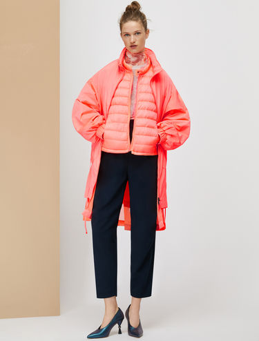Reversible and padded three-in-one parka jacket