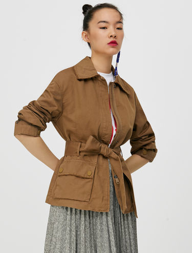 Field jacket in gabardine