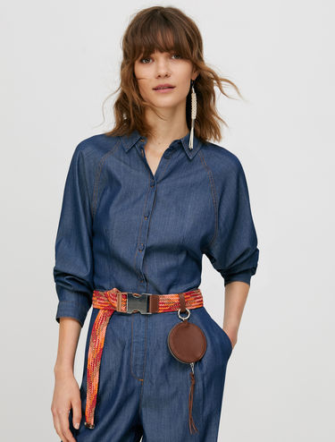 Indigoblaues Chambray-Shirt