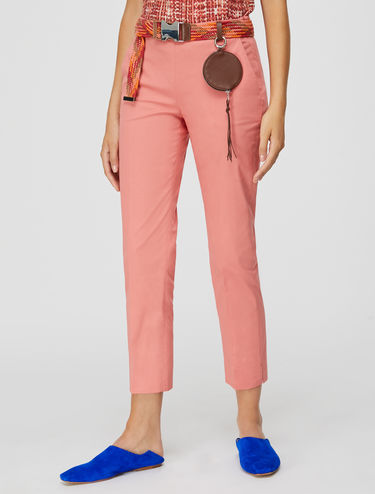 Gabardine slim-fit trousers