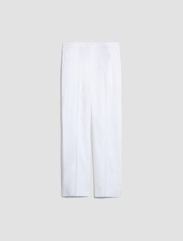 Cropped pants di gabardine