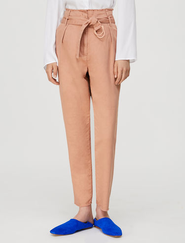 Carrot-fit trousers in gabardine