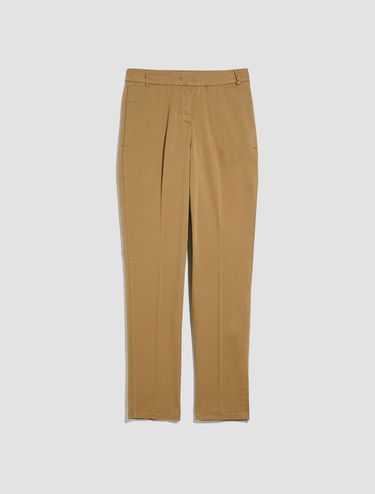 Pantaloni in gabardine di cotone stretch