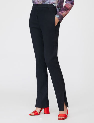 Dark blue new straight-fit jeans