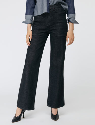 Cargo jeans with side bands