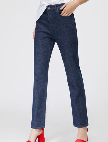 Raw-look relaxed-fit jeans